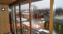 Работы по остеклению лоджии и балконов в калининграде.