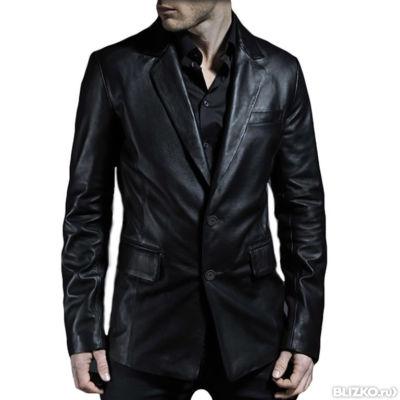 купить кожаный пиджак мужской в москве