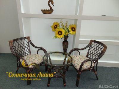 Комплект плетеный из ротанга для балкона/лоджии makita в нов.
