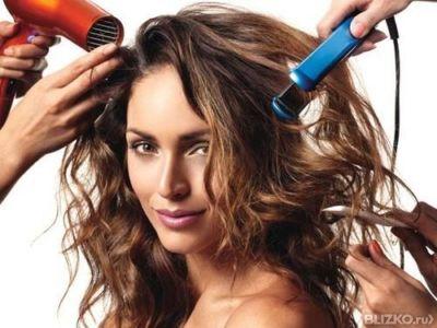 Укладка волос в салоне
