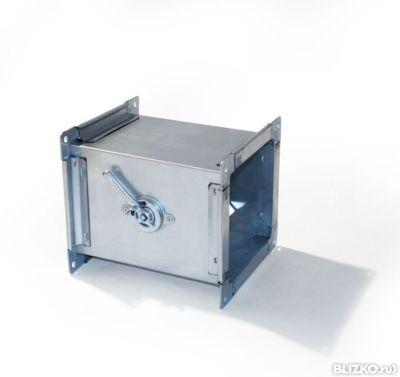 Клапан обратный прямоугольный 400h*400 оц.ст. на шинорейке