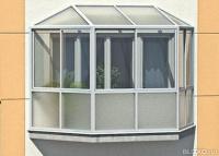 Остекление балконов с выносом, сравнить цены в омске, страни.