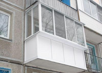 Остекление балкона пвх теплое с выносом без крыши от компани.
