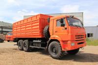 Камаз 65115 зерновоз с трехсторонней разгрузкой, с прицепом
