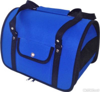 3db3396f432a Сумка-переноска для кошек и собак каркасная синяя 46 х 28 х 29 см Loori